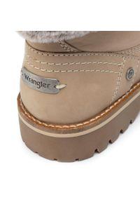 Beżowe buty trekkingowe Wrangler