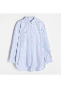 Reserved - Koszula z bawełny organicznej - Niebieski. Kolor: niebieski. Materiał: bawełna
