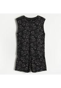 Reserved - Piżama z szortami Myszka Miki - Czarny. Kolor: czarny