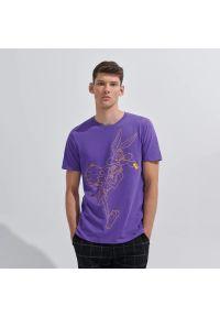 House - Koszulka z nadrukiem Kosmiczny Mecz - Fioletowy. Kolor: fioletowy. Wzór: nadruk