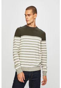 Zielony sweter PRODUKT by Jack & Jones z okrągłym kołnierzem, casualowy, na co dzień