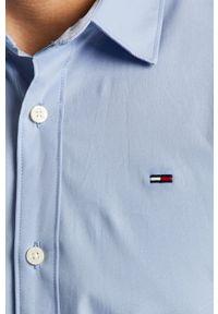 Niebieska koszula Tommy Jeans casualowa, na co dzień, długa, z klasycznym kołnierzykiem