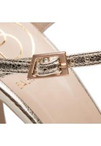 Złote sandały Baldowski eleganckie