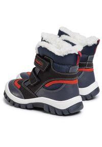 Niebieskie buty zimowe Lasocki Kids z cholewką