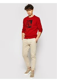 Polo Ralph Lauren Bluza 710828119002 Czerwony Regular Fit. Typ kołnierza: polo. Kolor: czerwony