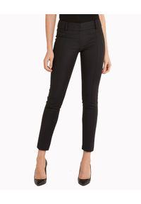 Patrizia Pepe - PATRIZIA PEPE - Czarne elastyczne spodnie. Okazja: na co dzień. Kolor: czarny. Materiał: tkanina. Styl: elegancki, casual