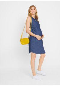 """Sukienka dżinsowa ciążowa bonprix niebieski """"stone"""". Kolekcja: moda ciążowa. Kolor: niebieski. Materiał: bawełna"""