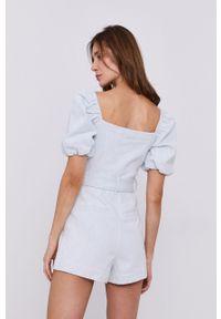 Miss Sixty - Kombinezon jeansowy. Kolor: niebieski. Materiał: jeans. Długość rękawa: krótki rękaw. Długość: krótkie. Wzór: gładki