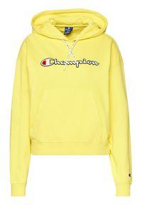 Champion Bluza Vintage Script Logo 112638 Żółty Custom Fit. Kolor: żółty. Styl: vintage