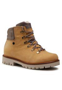 Żółte buty zimowe Bartek z aplikacjami