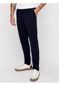 Only & Sons - ONLY & SONS Spodnie materiałowe Mark 22010209 Granatowy Slim Fit. Kolor: niebieski. Materiał: materiał