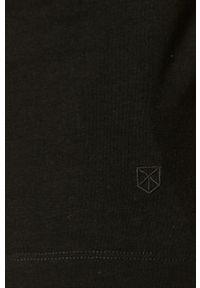 Jack & Jones - T-shirt. Okazja: na co dzień. Kolor: czarny. Materiał: dzianina. Wzór: gładki. Styl: casual