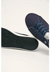 Niebieskie tenisówki Wrangler z cholewką, na sznurówki, z okrągłym noskiem