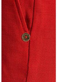 Czerwone spodnie materiałowe Pennyblack gładkie, z podwyższonym stanem