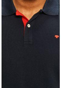 Niebieska koszulka polo Tom Tailor Denim casualowa, krótka, na co dzień, polo