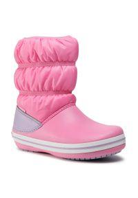 Różowe buty zimowe Crocs