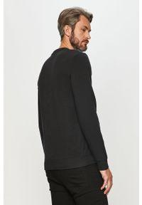 Czarna bluza nierozpinana Diadora na co dzień, bez kaptura