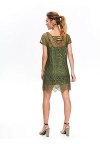 Brązowa sukienka TOP SECRET koszulowa