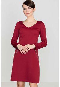 Czerwona sukienka wizytowa Katrus elegancka