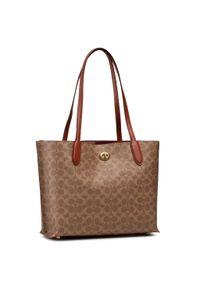 Brązowa torebka klasyczna Coach klasyczna, na ramię, skórzana