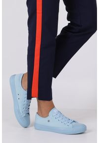 Niebieskie trampki Big-Star w kolorowe wzory