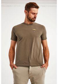 Aeronautica Militare - T-SHIRT AERONAUTICA MILITARE. Materiał: bawełna, elastan. Długość rękawa: krótki rękaw. Długość: krótkie. Wzór: haft