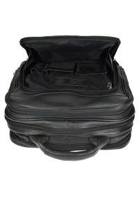 Plecak na laptopa MCKLEIN Wicker Park 15.6 cali Czarny. Kolor: czarny. Materiał: skóra. Styl: elegancki, biznesowy