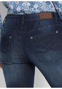 Wygodne dżinsy ze stretchem BOOTCUT bonprix ciemnoniebieski. Kolor: niebieski