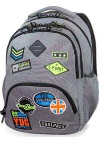 Patio Plecak szkolny Coolpack Cp Badges szary. Kolor: szary