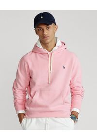Ralph Lauren - RALPH LAUREN - Różowa bluza z kapturem. Typ kołnierza: kaptur. Kolor: wielokolorowy, fioletowy, różowy. Wzór: haft