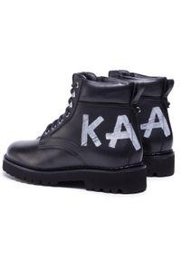 Czarne trapery Karl Lagerfeld klasyczne