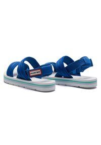 Niebieskie sandały Hunter casualowe, na co dzień