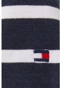 TOMMY HILFIGER - Tommy Hilfiger - Sukienka. Kolor: niebieski. Materiał: tkanina. Typ sukienki: rozkloszowane