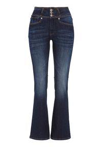 Niebieskie spodnie Cellbes krótkie, z podwyższonym stanem