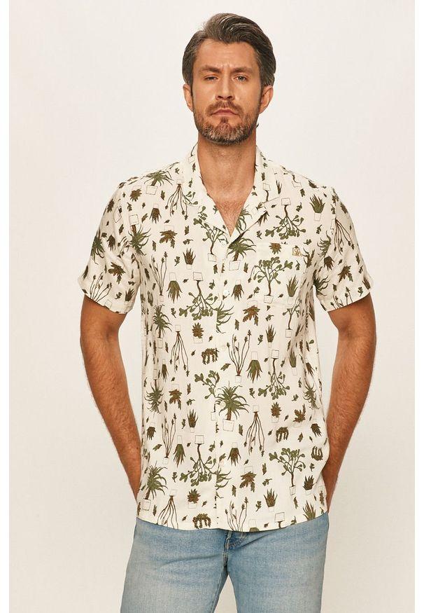 Zielona koszula Levi's® w kolorowe wzory, klasyczna, z krótkim rękawem, na spotkanie biznesowe
