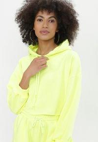 Born2be - Żółty 2-Częściowy Komplet Dresowy Sagosia. Kolor: żółty. Materiał: dresówka