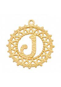 MOKOBELLE - Naszyjnik łańcuch z literką 60 cm. Materiał: srebrne, pozłacane. Kolor: złoty. Wzór: ażurowy, aplikacja #8