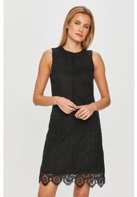 Czarna sukienka Desigual biznesowa, bez rękawów