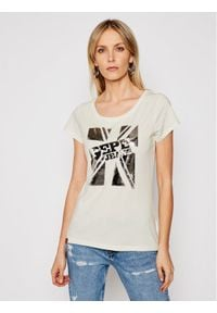 Pepe Jeans T-Shirt Alessa PL504795 Beżowy Regular Fit. Kolor: beżowy