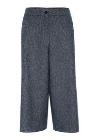 Niebieskie spodnie TOP SECRET w kolorowe wzory, do pracy