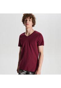 Czerwony t-shirt Cropp