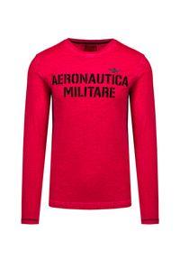 Aeronautica Militare - T-shirt z długim rękawem AERONAUTICA MILITARE. Materiał: bawełna, dzianina. Długość rękawa: długi rękaw. Długość: długie. Wzór: aplikacja, nadruk