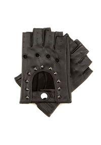 Wittchen - Damskie rękawiczki skórzane bez palców z perforacją. Kolor: czarny. Materiał: skóra. Styl: elegancki