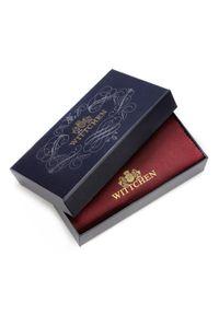 Wittchen - Damski portfel ze skóry lakierowany duży. Kolor: srebrny. Materiał: lakier, skóra. Wzór: aplikacja