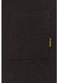 G-Star RAW - G-Star Raw - T-shirt. Okazja: na co dzień. Kolor: czarny. Materiał: bawełna, dzianina. Wzór: gładki. Styl: casual