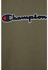 Brązowa bluza Champion z aplikacjami, casualowa, na co dzień
