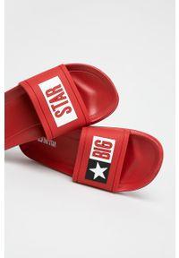 Big-Star - Big Star - Klapki. Kolor: czerwony. Materiał: materiał. Wzór: gładki. Obcas: na obcasie. Wysokość obcasa: niski