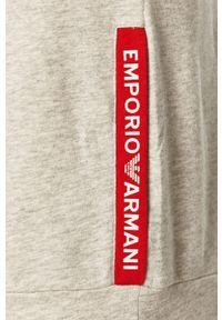 Szara bluza nierozpinana Emporio Armani casualowa, na co dzień, bez kaptura, z aplikacjami