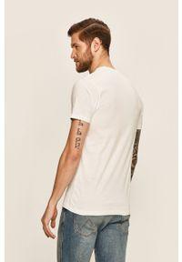 Biały t-shirt Vans z nadrukiem, z okrągłym kołnierzem