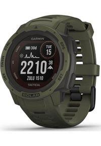 GARMIN - Zegarek sportowy Garmin Instinct Solar Tactical Zielony (010-02293-04). Kolor: zielony. Styl: sportowy